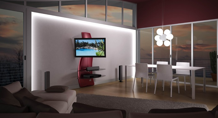Comment installer son support mural meliconi ghost design - Support tv mural ikea ...