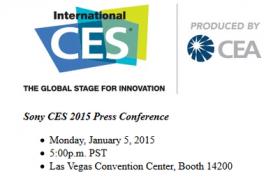 Sony annonce sa date de conférence de presse pour le CES 2015