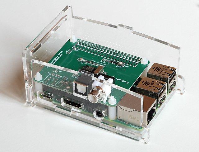 diy-dac-RaspBerry-PI-with-HifiBerry-DIGI-assemblage