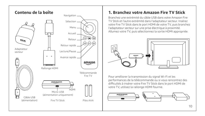 installation Amazon Fire TV Stick