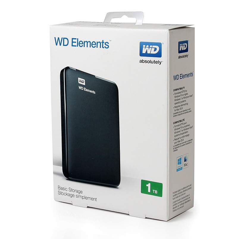 wd elements 1 to hard disque