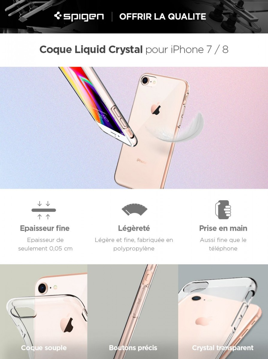 Coque iPhone 7, Coque iPhone 8, Spigen®