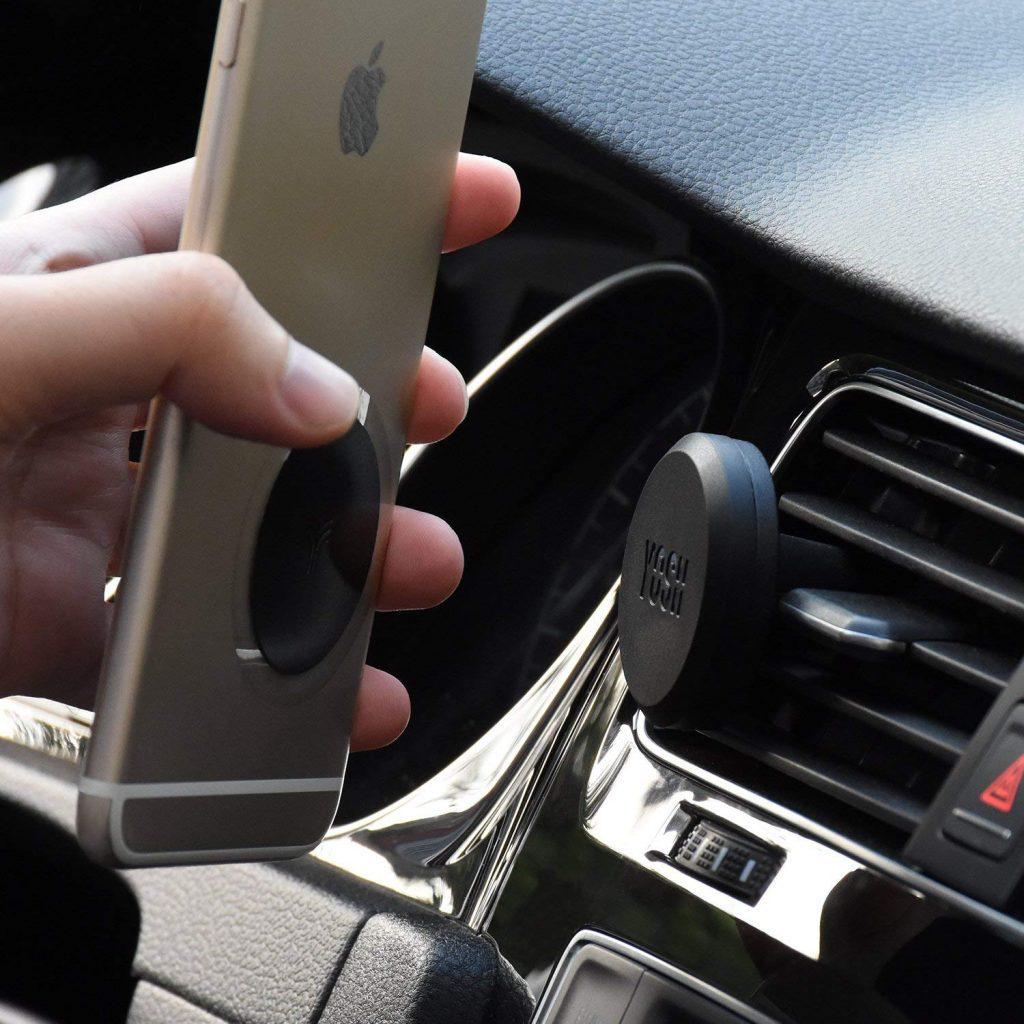 Support Téléphone Voiture Magnétique sur Grille