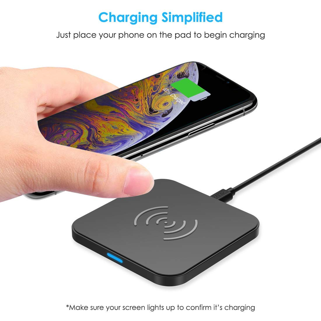 chargeur induction qi pour iphone