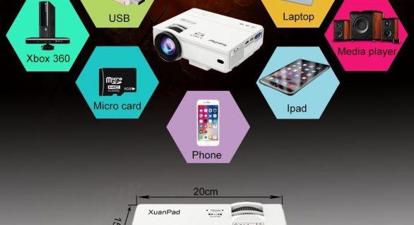 Xuanpad mini projecteur 2400 lumens test et avis