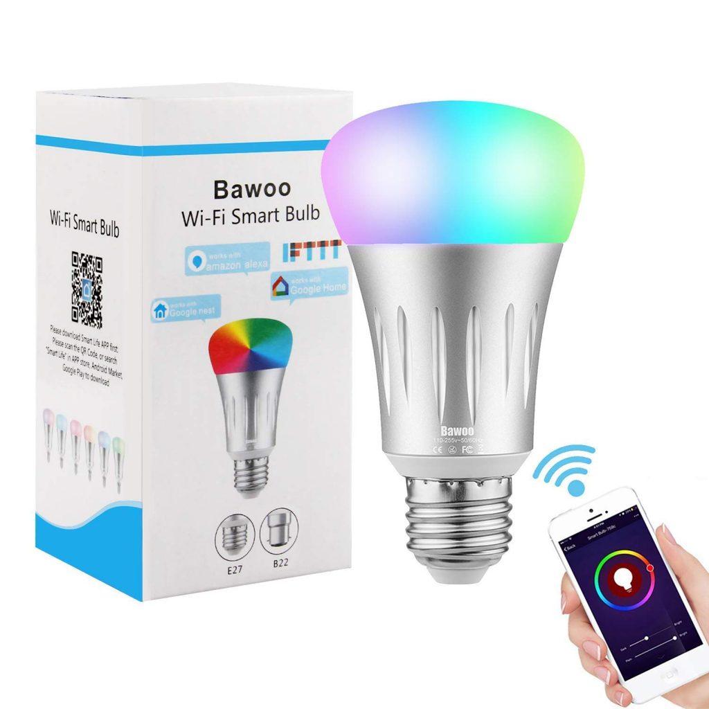 Ampoule Connectée LED E27 WiFi Intelligente Bawoo
